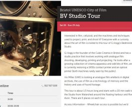 studio tours are a kind of spoken word gestural performance
